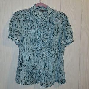 Apt. 9 ruffled blouse